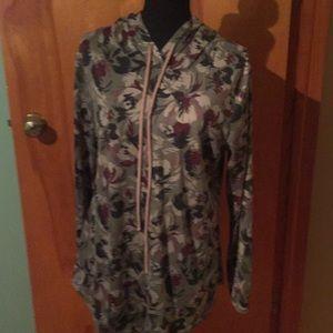 Bombom cute soft camo type print hoodie tunic